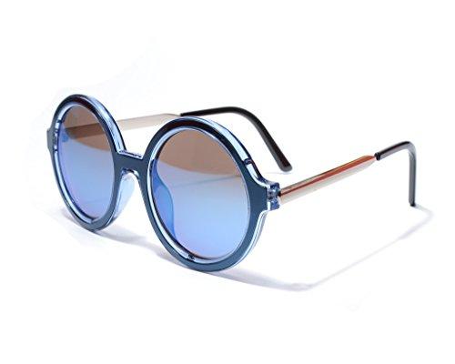 Azul Redondas Hombre Sol Metal De Mujer Jee Gafas G556 w4fARqPgP