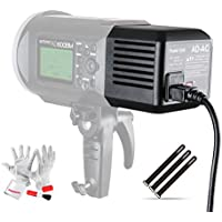 Godox AD600 AD-AC Power Source Adapter with 16.4/5m Cable, Pergear Clean Kit and Pergear Magic Stickers for Godox AD600 AD600B AD600M AD600BM Flashpoint XPLOR 600 Flash Strobe Lights