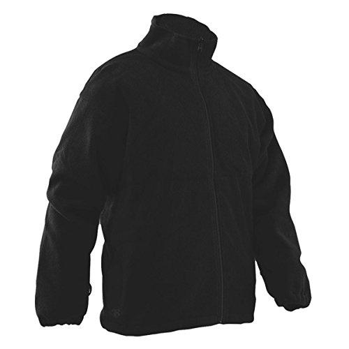 TRU-SPEC Men's Polar Fleece Jacket, Black, Large Long