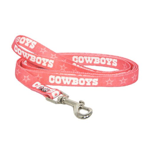 NFL Dallas Cowboys Pet Lead, Small, Pink