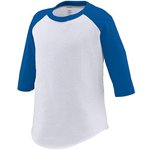 Augusta Sportswear Augusta Toddler Baseball Jersey, White/Royal, 4T ()