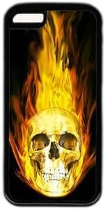 LJF phone case Fire Skull Theme iphone 4/4s Case