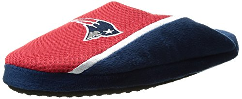 NFL New England Patriots Men's Mesh Logo Slide Slipper, Red, Small (7-8)