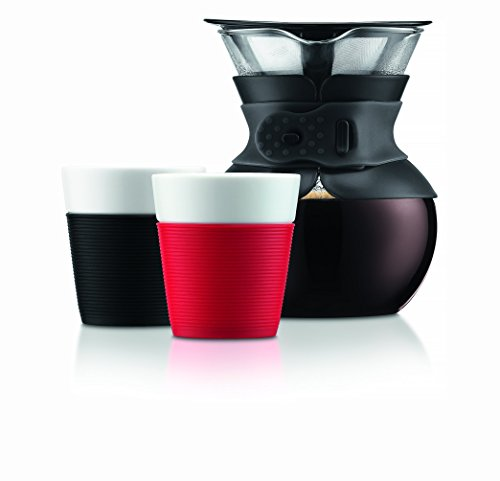 Bodum 11571-01 Pour Over Coffee Maker with Permanent Filter, 34 oz, Black - Coffee Pigs