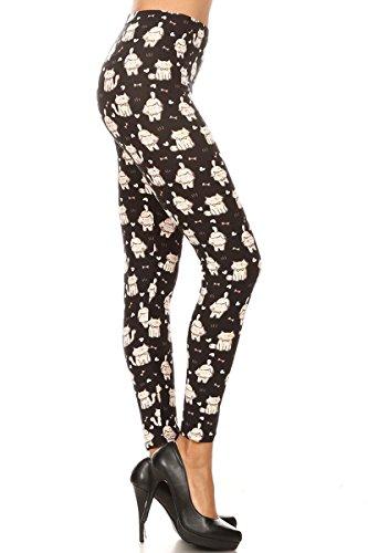 Leggings Depot Women's Ultra Soft Popular Best Printed Fashion Leggings BAT14 (One Size (Size 0-12), Furball Cats)