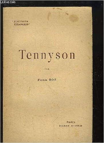 Téléchargement gratuit d\'ebook Tennyson. PDF B0000DSTIQ