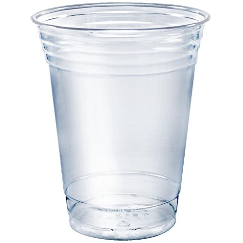 SOLO Cup Company TP12-100 Solo 100 Piece Company Plastic Party Cold Cups, Clear, 12 (Clear Plastic Cold Cups)