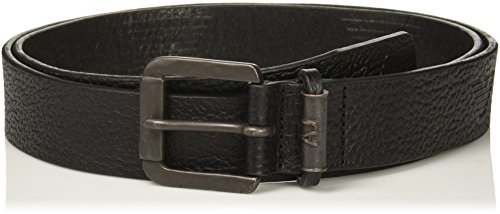 Armani Exchange Men's Tumbled Leather Belt, Black, I