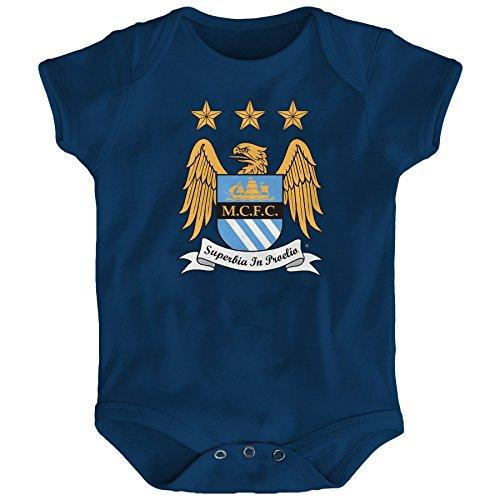 Outerstuff International Soccer Manchester City Infant 18 Months Short Sleeve Team Logo Bodysuit, Navy by Outerstuff