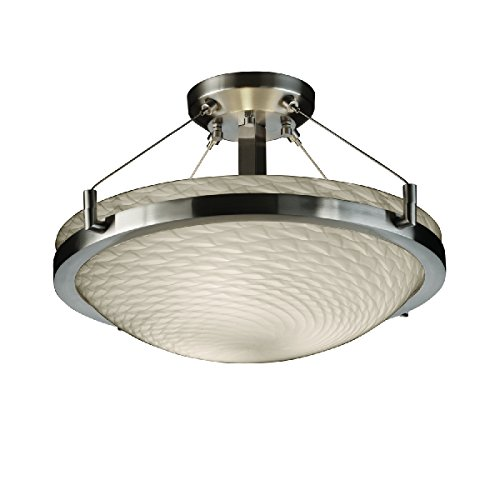 (Justice Design Group Lighting FSN-9681-35-WEVE-NCKL-LED3-3000 Fusion-Ring 21