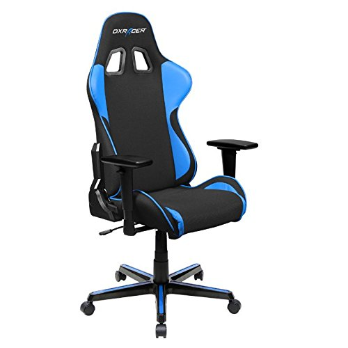 DXRacer OH FH11 NB Formula Series Black and Blue Gaming Chair – Includes 2 Free Cushions and on Frame