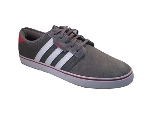 huge discount 9b7af 8df22 Adidas Seeley Chaussures Athlétiques, Décontractées Ou Mode Homme Taille 13  Gwr. chaussures  suède  gris-blanc-rouge
