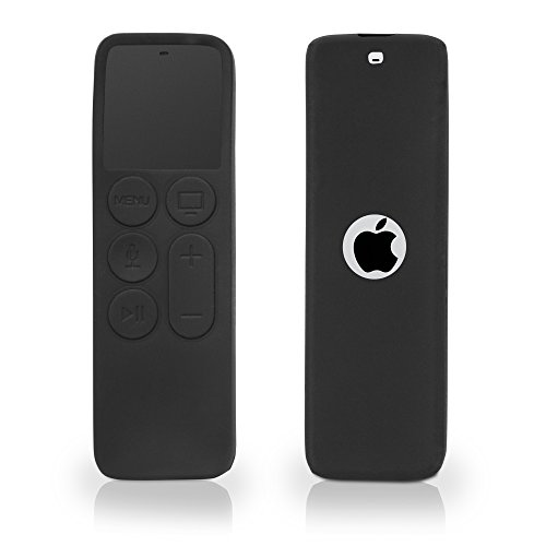 Flexiskin Case - Apple TV Remote (2015) Case, BoxWave [FlexiSkin] TPU Cover w/ Raised Edges for Screen Protection for Apple TV Remote (2015) - Jet Black