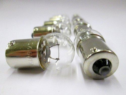 Glühbirne für KLASSISCHES MOTORRAD / CITYROLLER 6V 15W BA15S TL169A P244A (10/PACKUNG)