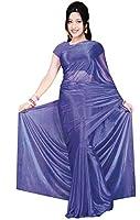bleu très joli Saree / Sari dans Bollywood