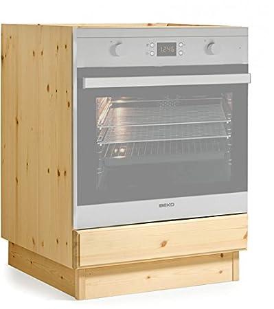 Base forno cucina da L60- MOBILE GREZZO (NO LUCIDATO)/TOP LEGNO DI ...