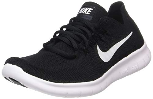 Nike Womens Free RN Flyknit 2017 Running Trainers 880844 Sneakers Shoes UK 3 US 5.5 EU 36, Black White 001