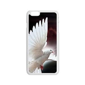 Shining Pure White Bird Custom Protective Hard Phone Cae For Iphone 6