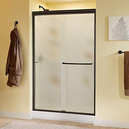 Delta Shower Doors SD3956956 Classic Semi-Frameless Traditional Sliding Shower, 48