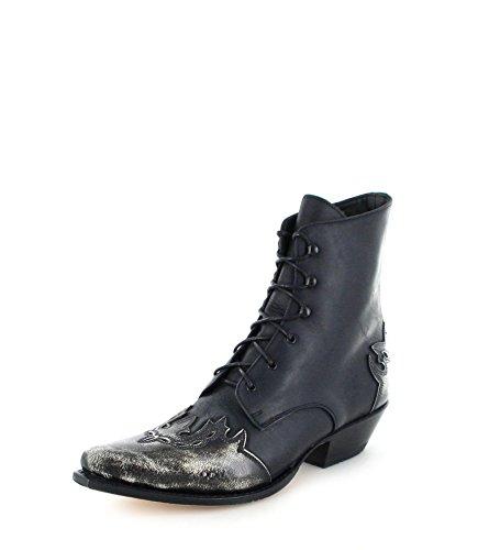 Farben Boots Schnürstiefelette 11699 verschiedenen Western Sendra Negro Ankle Damen Blanco in d1TxwXT8Zq