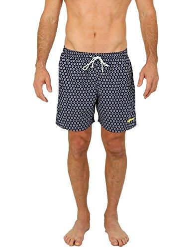 Uzzi Men's Malibu Swim Trunks Navy XL (Mens Swim Liner)