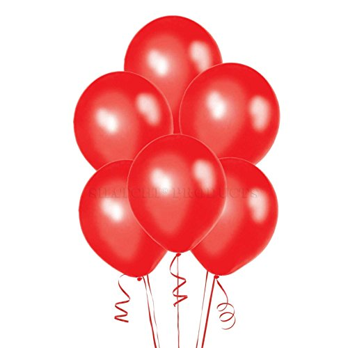 25pcs Shatchi 12'' metalic Red Balloons party decoration Latex Helium Quality birthday wedding Anniversary Celebrations 12' Metallic Latex Balloons
