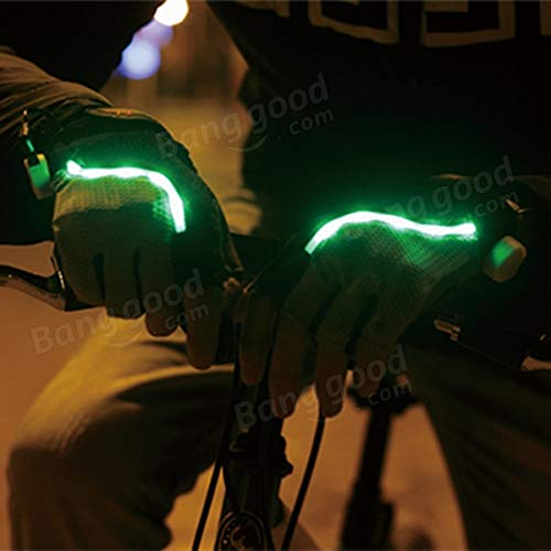 Bicycle Bike Cycling Gloves LED Lighting Half Finger Gloves by Anddoa (Image #4)