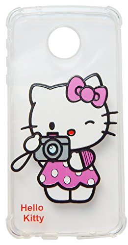 (TPKT4) Hello Kitty Clear drop proof and shockproof case for Motorola Moto Z Play Droid