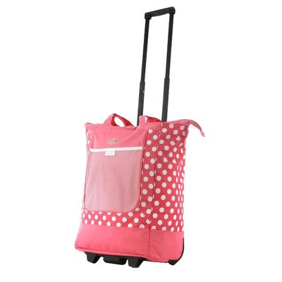 Olympia Polka Dot Shopper Tote RS-100 Color Pink