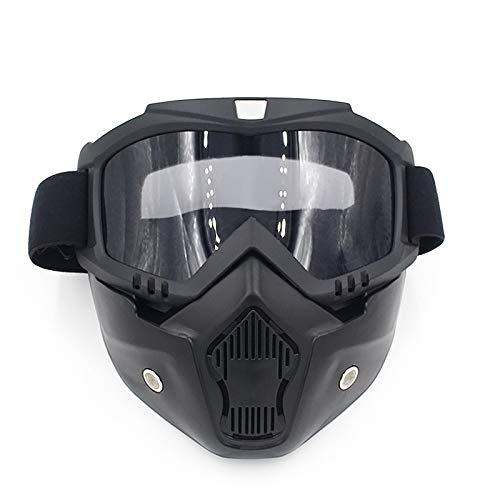 de Casco Motocicleta máscara la de la Monta New Campo Equipo al la máscara de de máscara a el de la Harley Que Lente través Libre Aire de Color Black máscara Blue Gafas lan Shuo la XqwIEBxFW