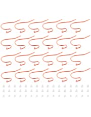 Ciseng 150pcs Earring Hooks, Fish Ear Wire Hooks, Hypoallergenic Earring Hooks (Nickel Free), Earring Hook with 150pcs Earring Backs (Rose Gold)