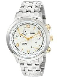 Timex Men's T2N613 Intelligent Quartz Traveller Series World Time Stainless Steel Bracelet Watch