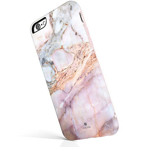 iPhone 6/6s case for Girls, Akna Get-It-Now Collection High Impact Flexible Silicon Case for Both iPhone 6 & iPhone 6s [Marble Texture #17](227-U.S)