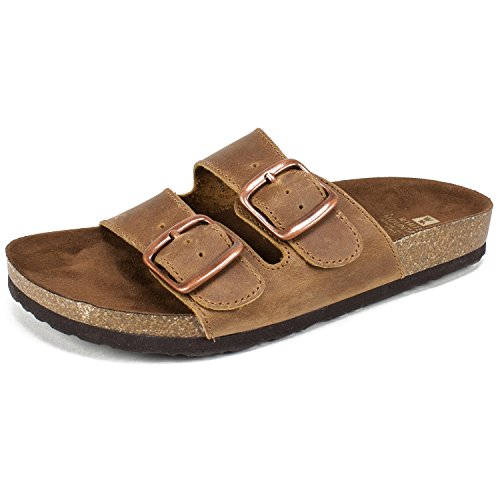 WHITE MOUNTAIN Shoes Helga Women's Sandal, Whiskey/Leather, 6 M from WHITE MOUNTAIN