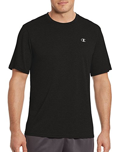 Quick Dry T-shirt (Champion Mens Vapor Heather Tee T0766 -Black 2XL)