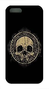iPhone 4 4s Case, Slim Thin Shockproof Skull Talisman Grunge Ideas IP5 Case fit foriPhone 4 4S Ultra Protective Back Rubber Cover Impact Protection foriPhone 4 4S (Black)Maris's Diary