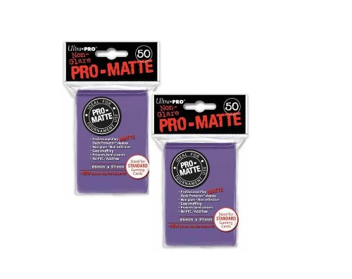 Magic The Gathering Sleeves (Ultra Pro Pro-Matte (100Count) Purple Deck PROTECTOR Sleeves - Magic The Gathering)