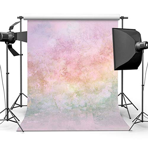 Sensfun 5x7ft Grunge Rainbow Floral Photography Backdrop Baby Portrait Photo Background Newborn Watercolor Painted Photobooth - Backgrounds Floral Photography