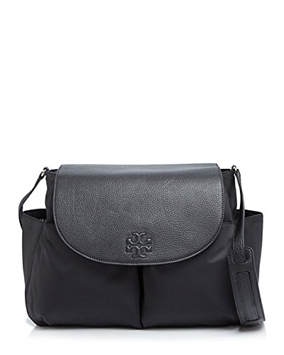 Black Thea Burch Messenger Women Crossbody Tory Handbag Nylon Bag Baby 047fw0Fqx