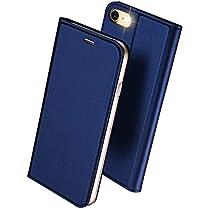 DUXDUCIS iPhone7 iPhone8 ケース 手帳型 合皮レザー 耐衝撃 カー...