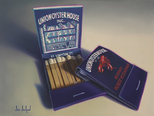 Union Oyster House Limited Edition Giclee of Oil Painting of Matchbook of Iconic Boston Restaurant