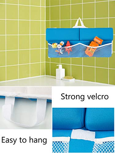 Clothink Bath Kneeler with Elbow Rest Pad Set - Bathtub Kneeling Mat with Toy Organizer for Baby Bathing Time - Quick Dry Easy Clean