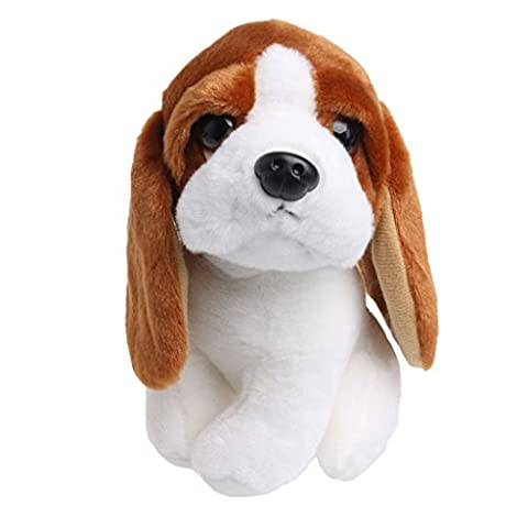BushYou Mini Stuffed Adorable Animal Long Ears Dog Puppy Plush Doll Toys Kids Gift 18cm/7in
