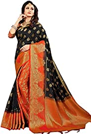 Mohit Creations Pure Silk Traditional South Indian Saree with Unstitched Blouse