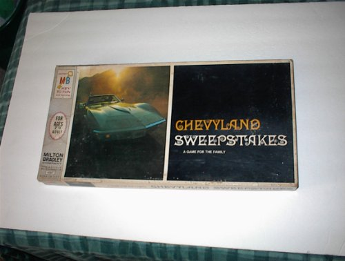 Chevyland Sweepstakes 1968 Milton Bradley Board Game