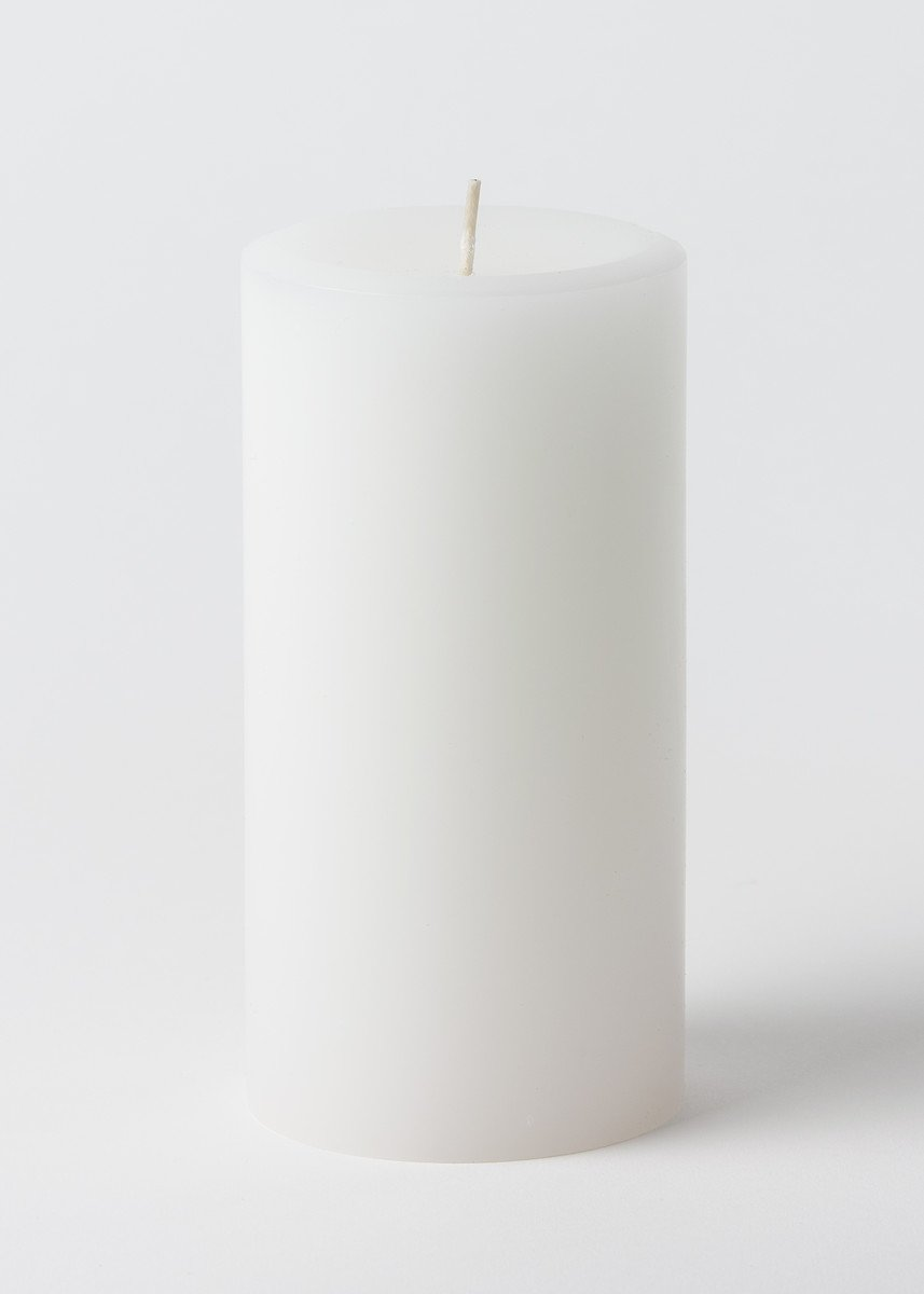 Candles4Less - 3 x 6 White Pillar Candles (Bulk 12Pcs) Unscented Lead Free Cotton Wicks by ifavor123