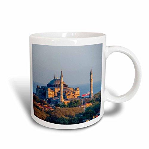 - 3dRose 187079_1 Hagia Sophia Churchmuseumseen From Galata Tower Istanbul Turkey Ceramic Mug, 11 oz