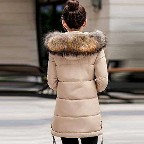 Long Warm El Hiver Fit Slim Doudoune Outdoor Parka Capuchon Fourrure Oversize avec Femme Zw48X