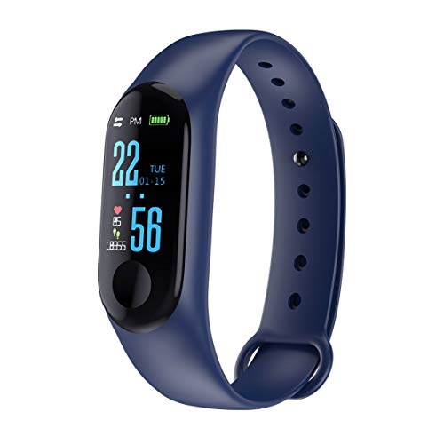 M3 Smart Bracelet Color Screen IP68 Waterproof Heart Rate Blood Pressure Monitor Replaceable Watch For Android IOS(Color…
