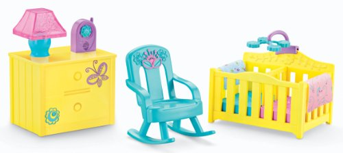 Fisher-Price Dora The Explorer Playtime Together Dora and Me Dollhouse Deluxe Nursery Furniture